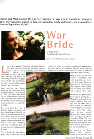 NevadaWoman features Wedding Italy