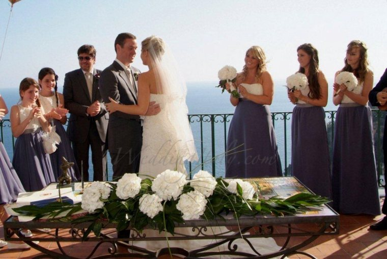 positano civil wedding italy