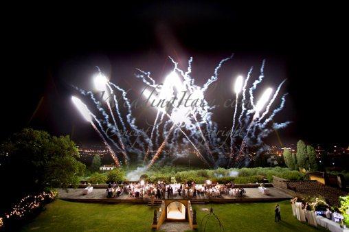 Fireworks in Fiesole, florence wedding