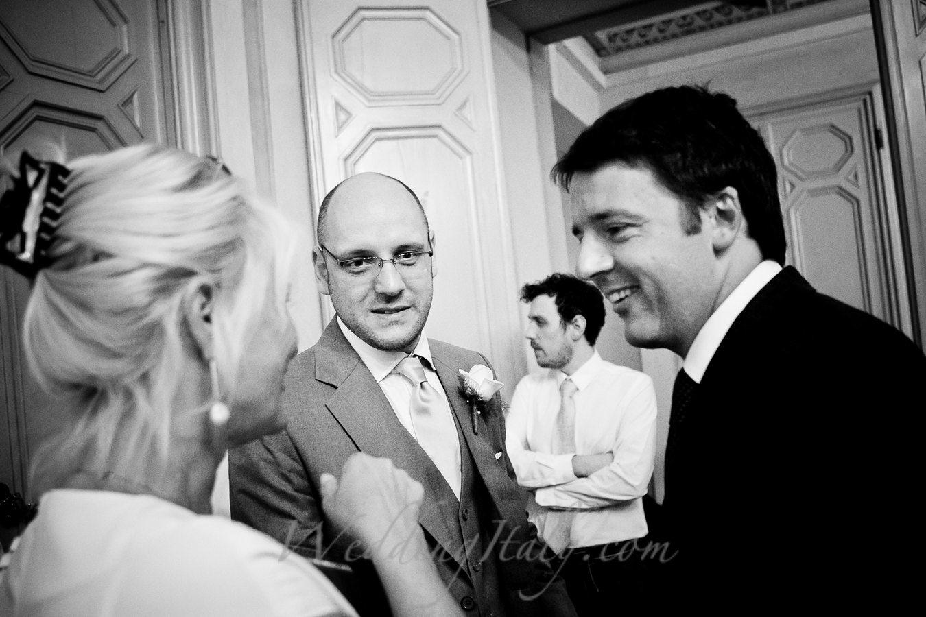 Prime minister Renzi and Helga