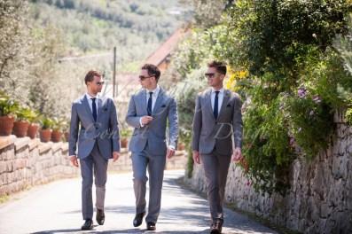 Romantic outdoor wedding in Sorrento