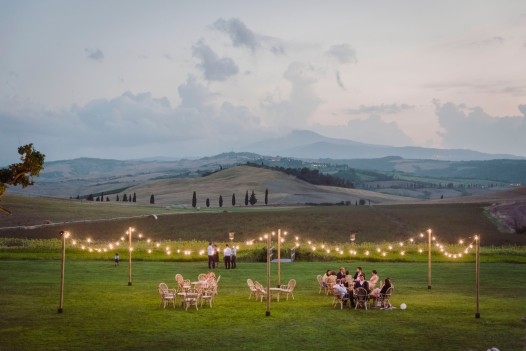 Outdoor Tuscan dinner